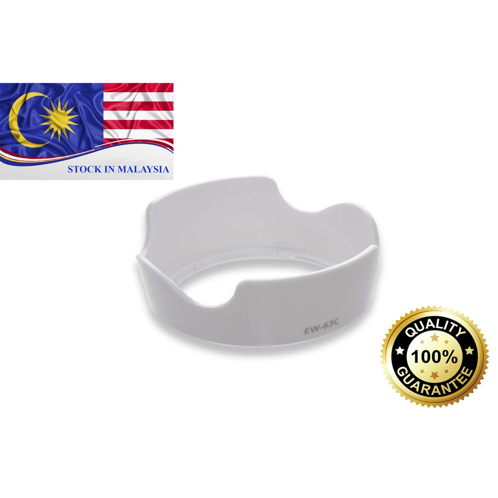 EW-63C Lens Hood For Canon EF-S 18-55mm f/3.5-5.6 IS STM (White)(Ready Stock In Malaysia)
