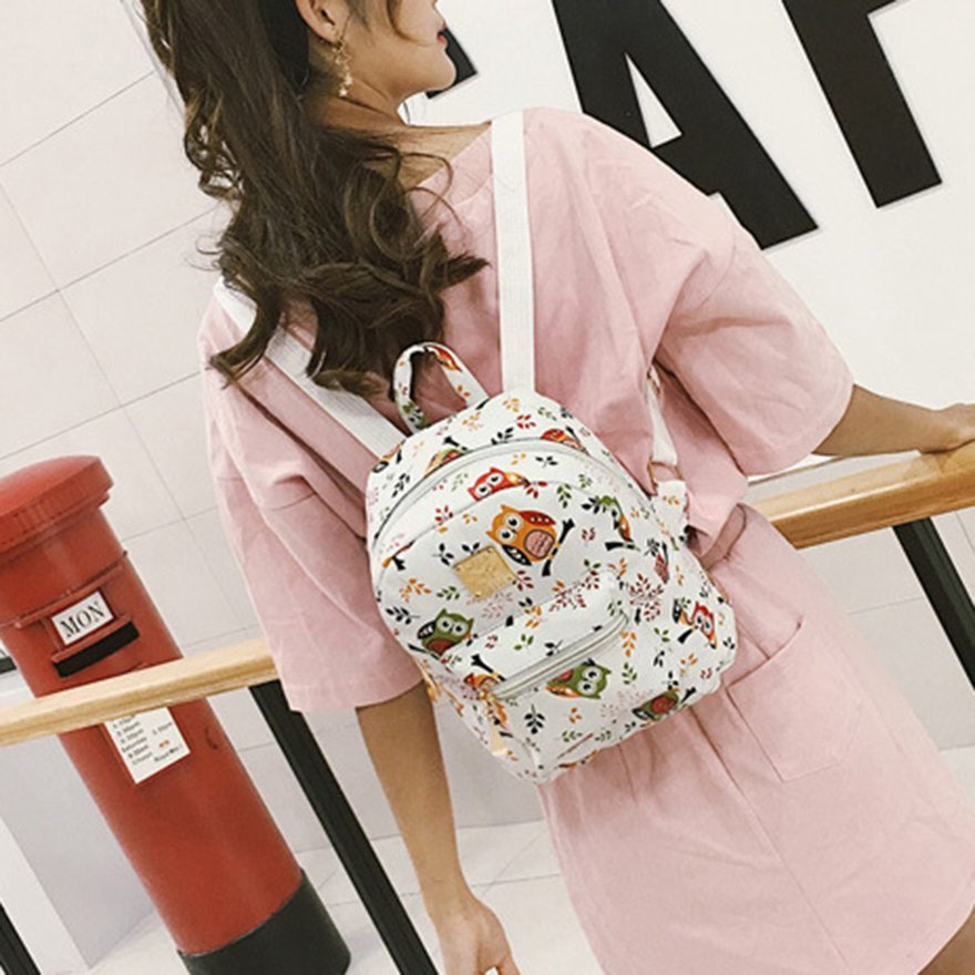 88a65026e6bb ♫CHD♫Cute Girl Fox Shoulder Bag Small Backpack Cartoon Owl Backpack Bag  Casual Bag
