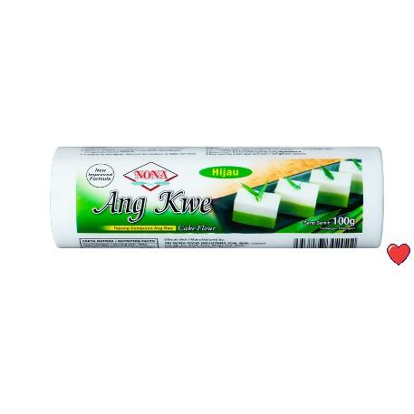 Nona Hoen Kwe Cake Flour 100g ~ Green / Hijau  @ 100g ( Free Fragile + Bubblewrap Packing )