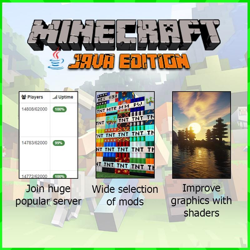 [ORIGINAL] Minecraft Premium Java Edition with Windows 10  edition[WIN/MAC/LINUX]