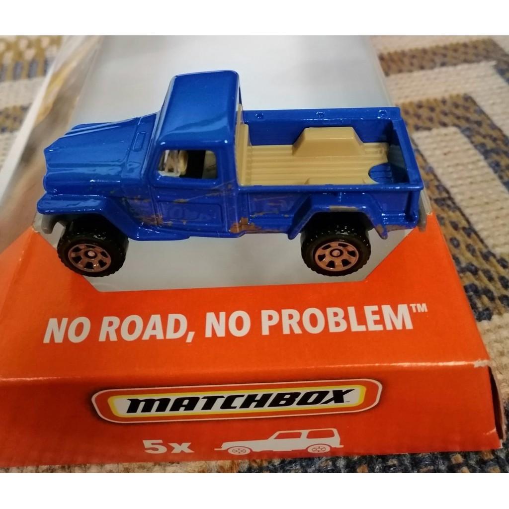 WILLYS JEEP GLADIATOR 2019 MATCHBOX 5-PACK NO ROAD NO PROBLEM W// VW GULF