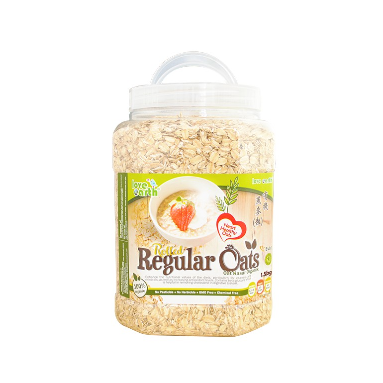 Organic Regular Rolled Oat 1.5kg