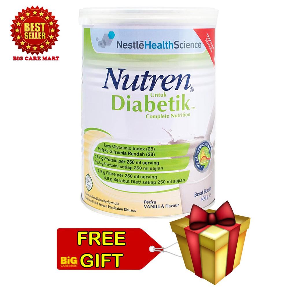 Nestle Nutren Diabetik Complete Nutrition 800g [Free Gift]