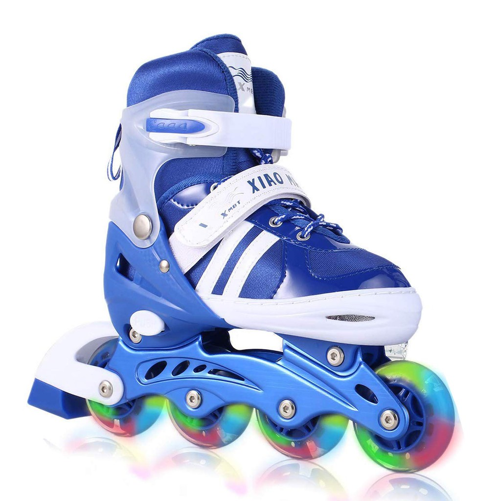 13b67e020b52 Aceshin Adjustable Inline Skates with Light up Wheels Beginner Roller  Skates Fun