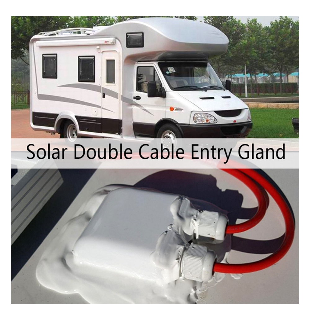 3-7mm boats for solar panels// motorhomes Waterproof double cable entry gland