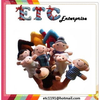 Adorable Fingers Muppet Toys-The Boy Who Cried Wolf 10 Pcs