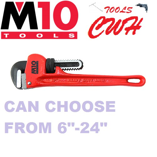 """6""""-24"""" RANGE M10 DUCTILE CAST IRON PIPE WRENCH SPANNER CWH TOOLS BLACK HARDWARE BLACKHOME"""