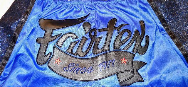 Fairtex BS1702 Slim Cut Muay Thai Shorts Blue
