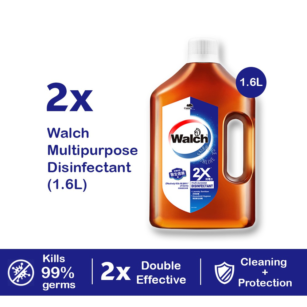 [Bundle of 2] Walch Multi Purpose Disinfectant 2X 1.6L Kills 99.9% of Germs