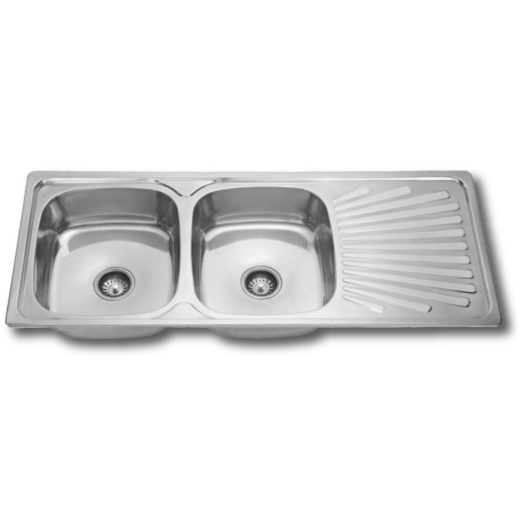 Aluminium kitchen sink 42 x 18 shopee malaysia
