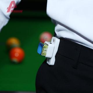 Belt Cue Magnetic Pool Holder Billiards Snooker Leather Clip Stick Chalk Tools