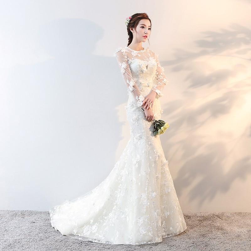 5425f0bb071 Bride Princess Dream Fishtail Wedding Dress