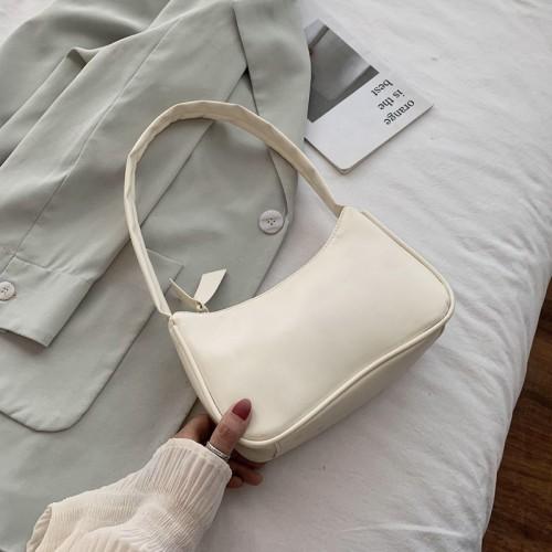 Soft Pu Leather Women Purple Underarm Bag Retro Solid Color Ladies Baguette Handbags Fashion Design Girls Small Shoulder Bags Shopee Malaysia