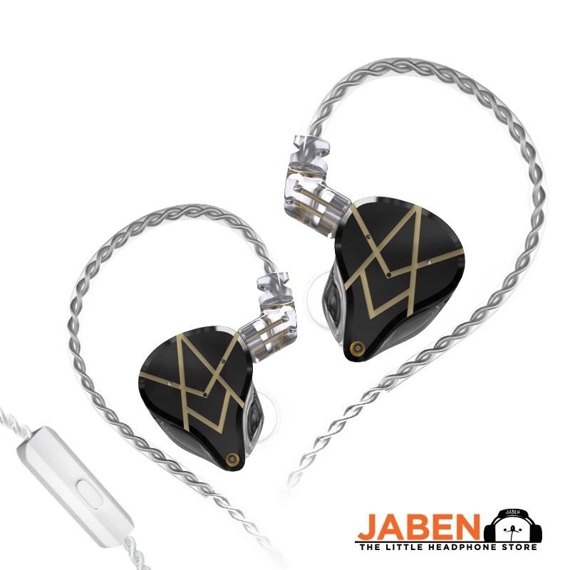 KZ ASX Hi-Res 10BA Config Detachable 0.75mm 2-Pin Cable IEM Wired In-Ear Earphones [Jaben]
