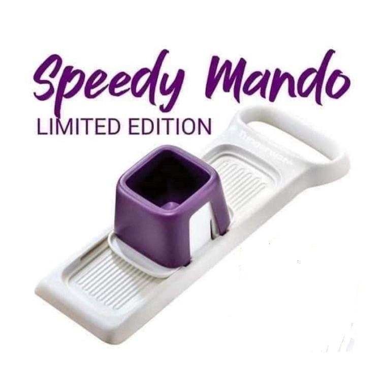 *Purple*Tupperware Speedy Mando Garlic Onions Carrot Cucumber Slicer Cutter TUPPERWARE