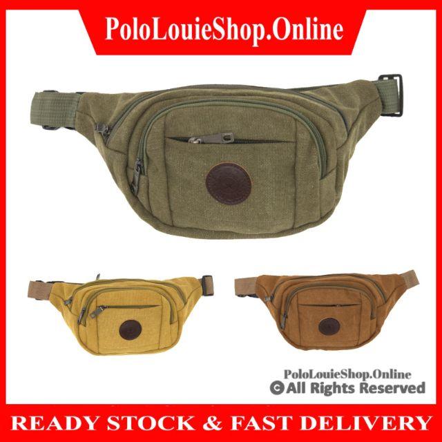 Fashion Sports Chest Fanny Waist Pack Pouch Bag Canvas Travel Shoulder Bag