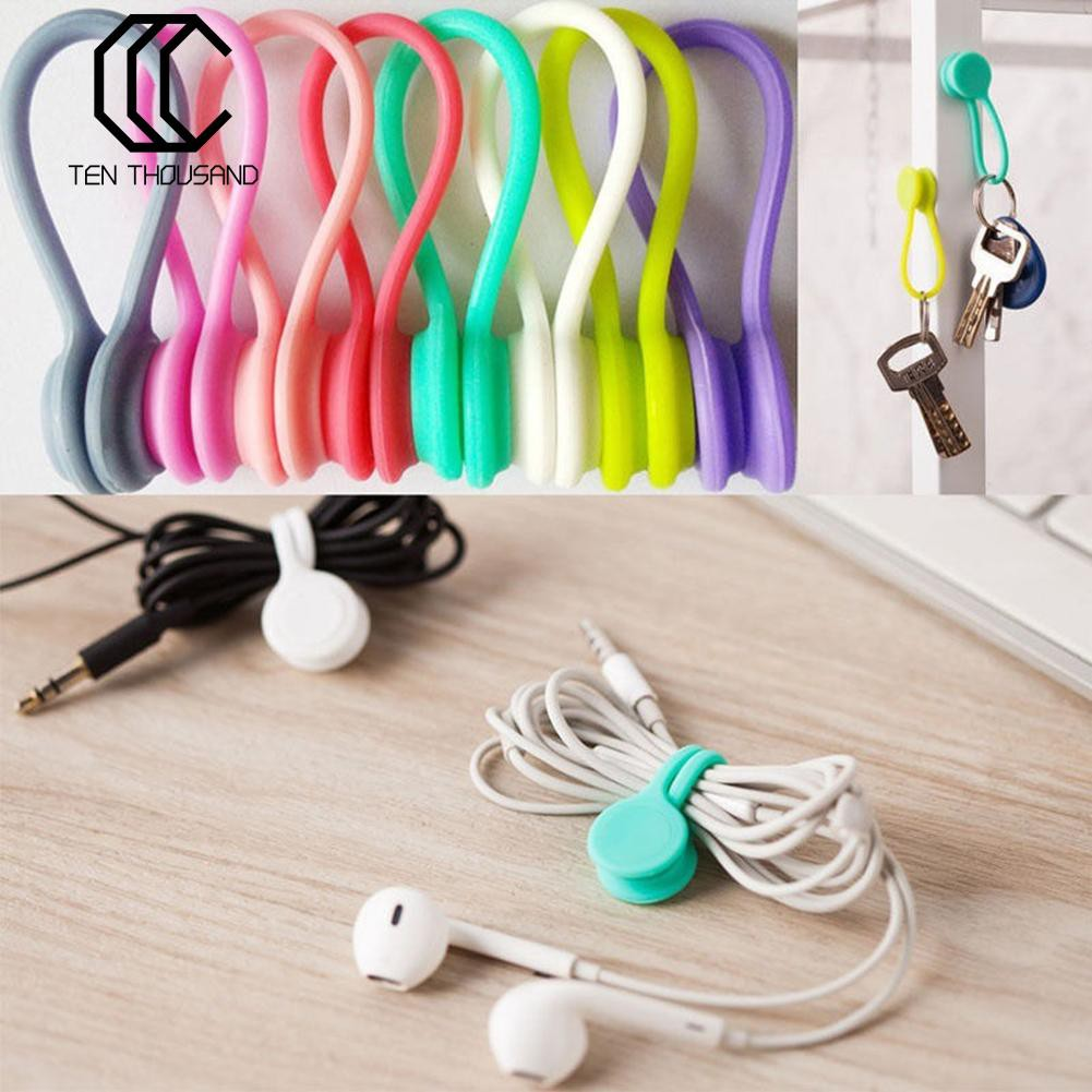 Brilliant 30pcs Car Cable Holder Clips Wire Clamp Fixer Cable Winder Drop Wire Tie Holder Cord Organizer Management Desk Consumer Electronics