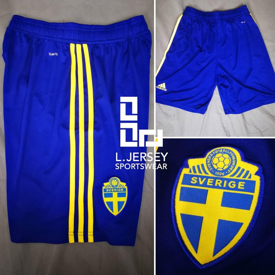 Sweden Home Short World Cup 2018
