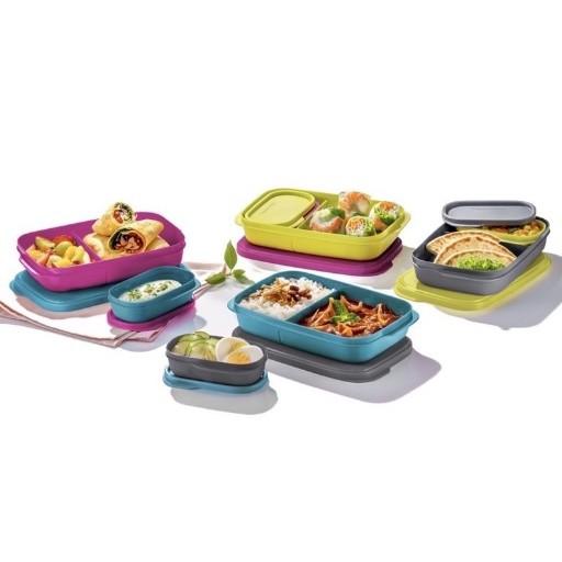 Tupperware (8pcs:4 Full Sets Colour) Foodie Buddy Foodies Buddy