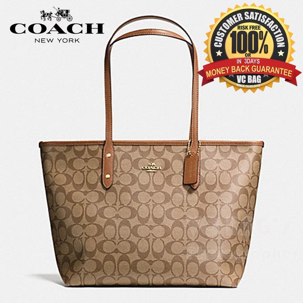 1f2d0af41e65  AUTHENTIC COACH F55064 Signature Ava Zip Tote Bag