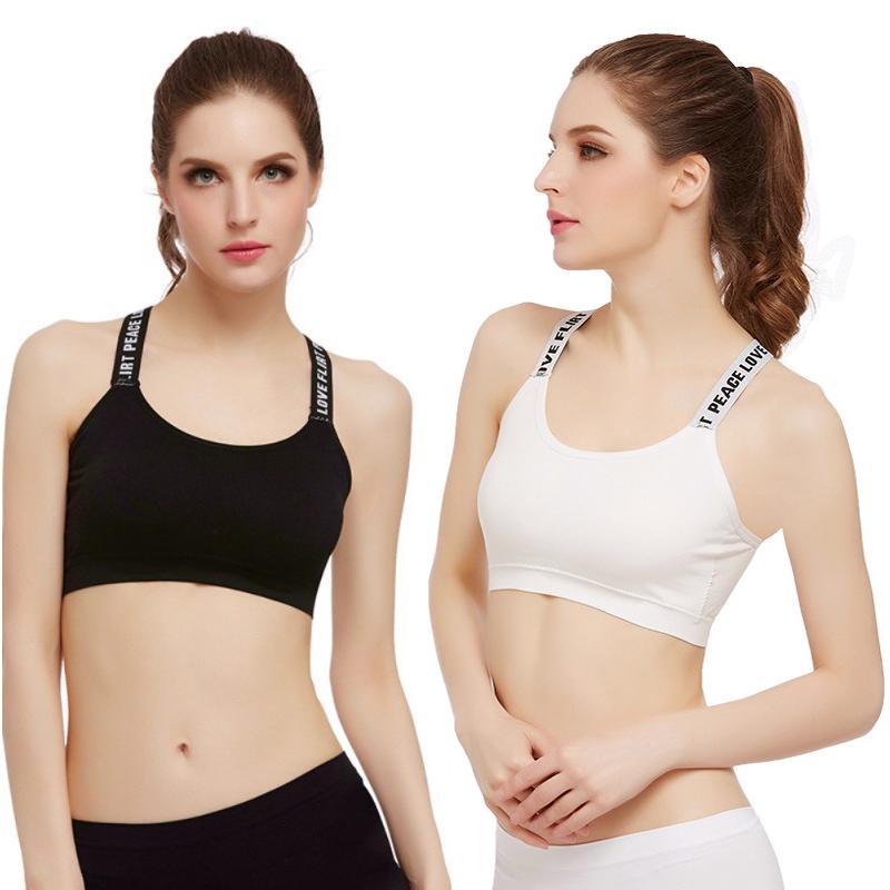 Women Shockproof Sports Bra Stretch Athletic Brassiere Push Up Bras Top Padded