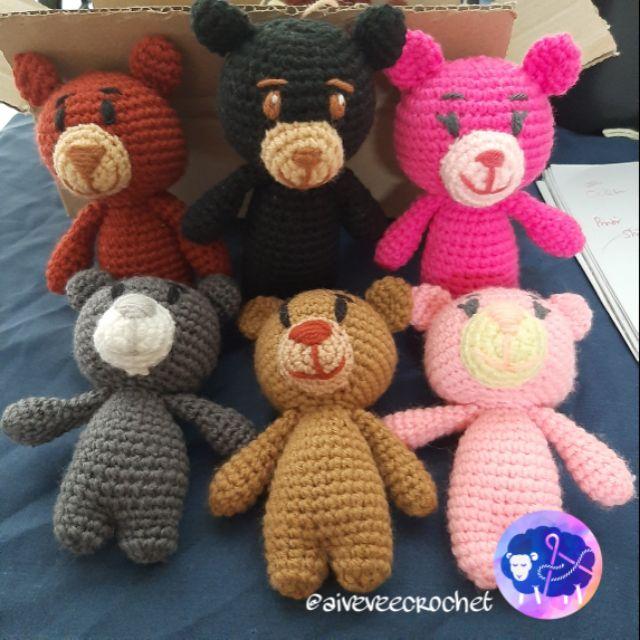 Amigurumi Crochet Toy - Mini Teddy Bear 7
