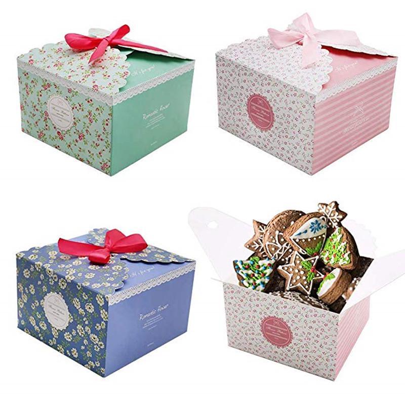 Craft Gift Box 12 Pieces Decorative Box Bakery Cake Birthday Wedding
