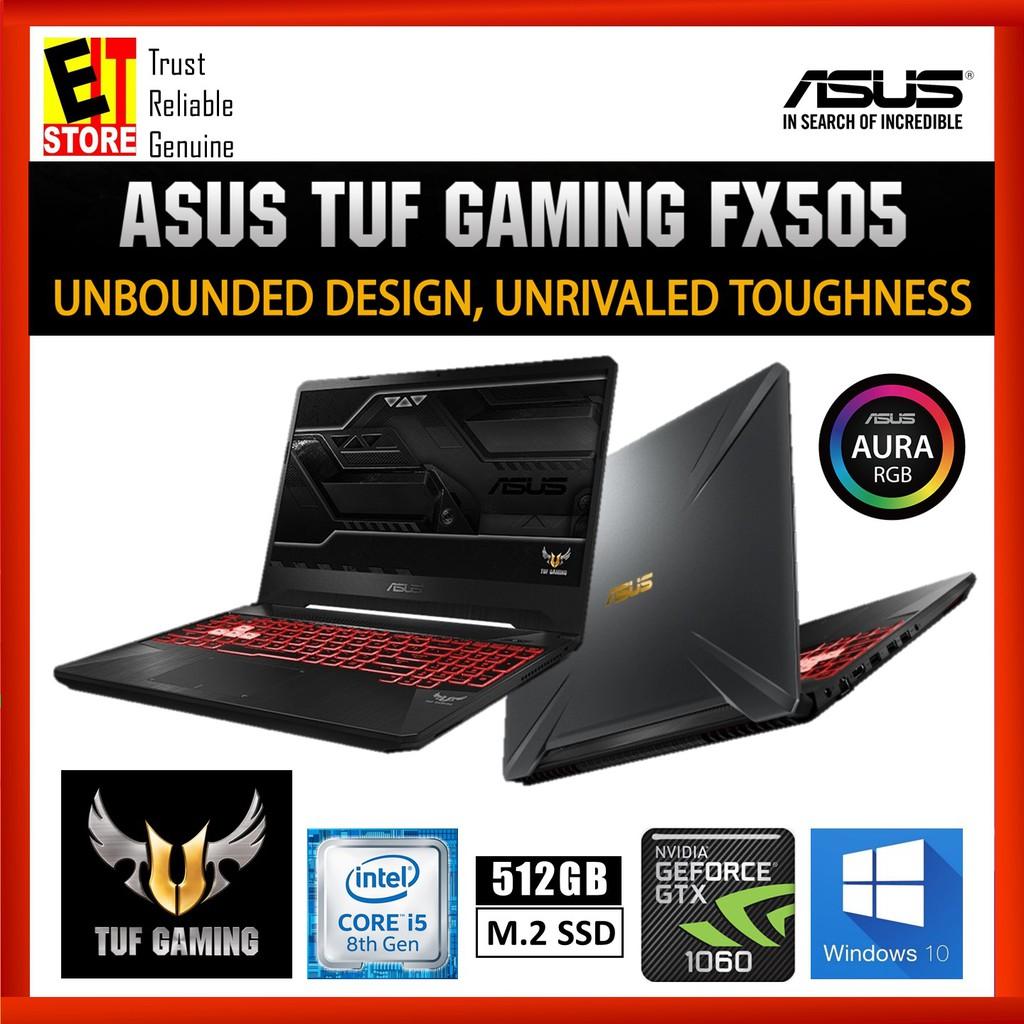 ASUS TUF FX505G-MBQ498T (I5-8300H/4GB/512GB SSD/GTX1060 6GB/W10/2YRS) + BAG