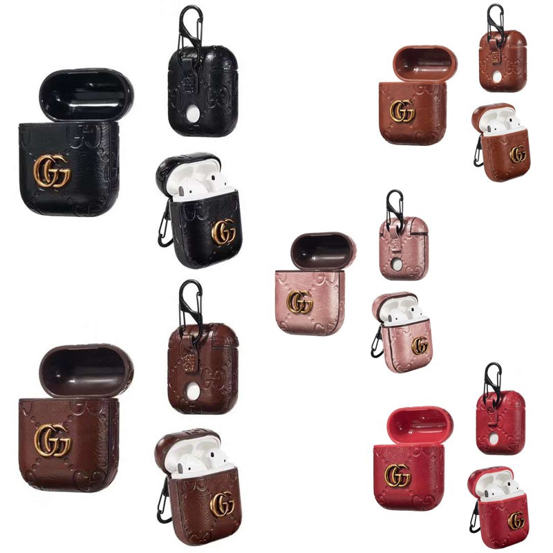 Airpods Earphone Leather Gucci Case Shockproof Protective Charging