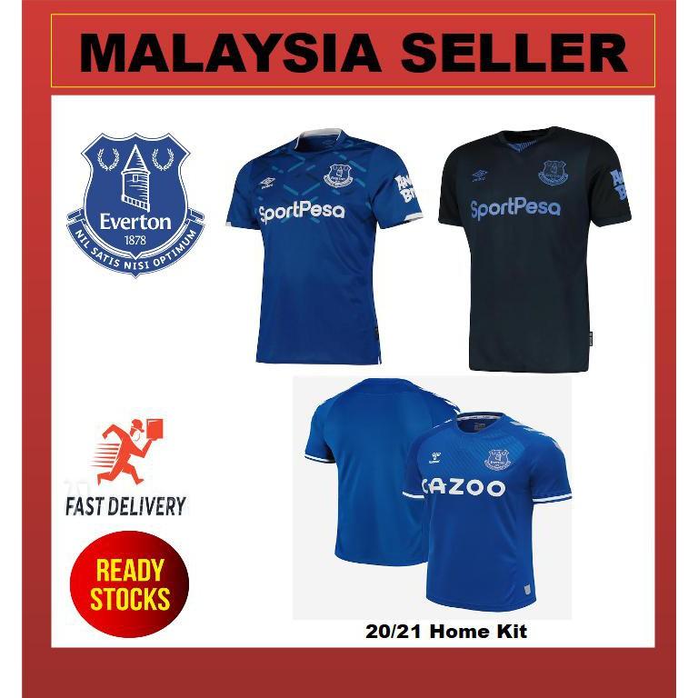 Malaysia Seller Ready Stock Everton Home Away 3rd Kit Jersey For Men Season 2019 2020 And 2020 2021 Shopee Malaysia