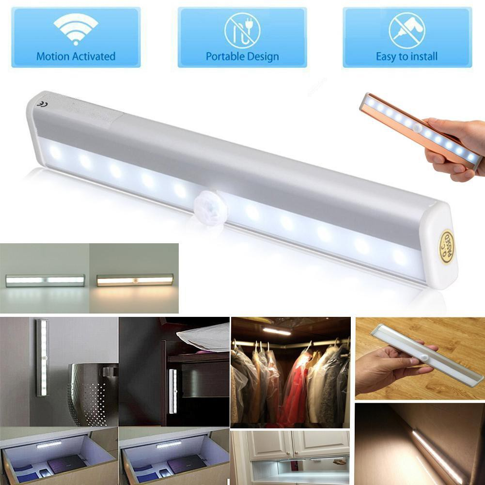 LED PIR Motion Sensor Light Night Light For Pathway Staircase Wall Fridge |  Shopee Malaysia