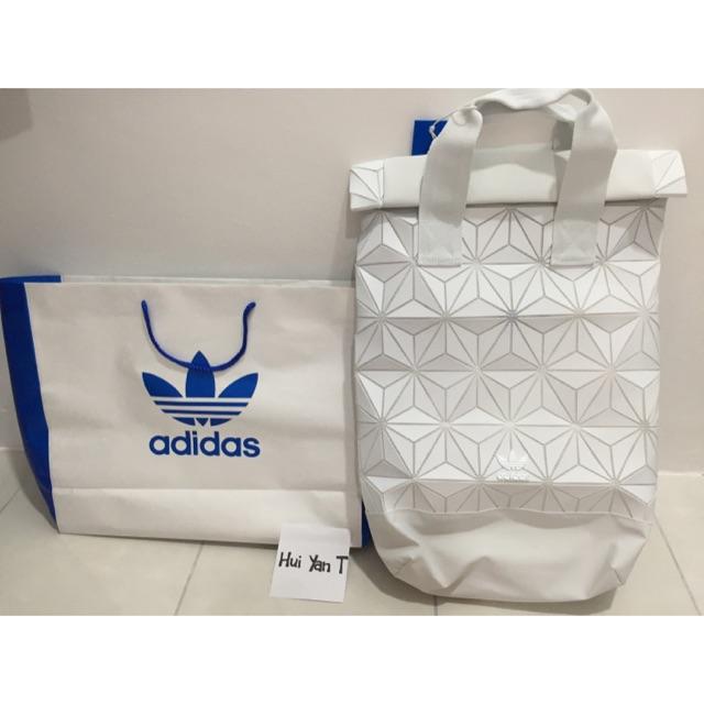 5dedaac6b0 Adidas 3D Roll Top Backpack  White