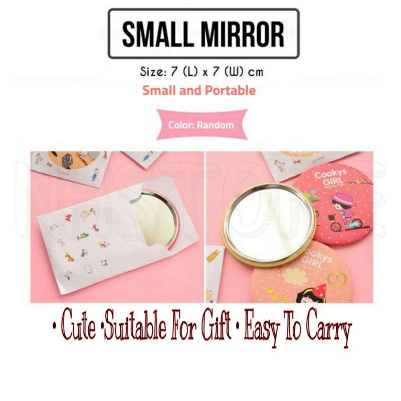 Small Mirror Make Up Easy Carry Mirror Round Mirror Gift Ladies Mirror Mini Gift / Cermin Make Up Murah Senang Bawa
