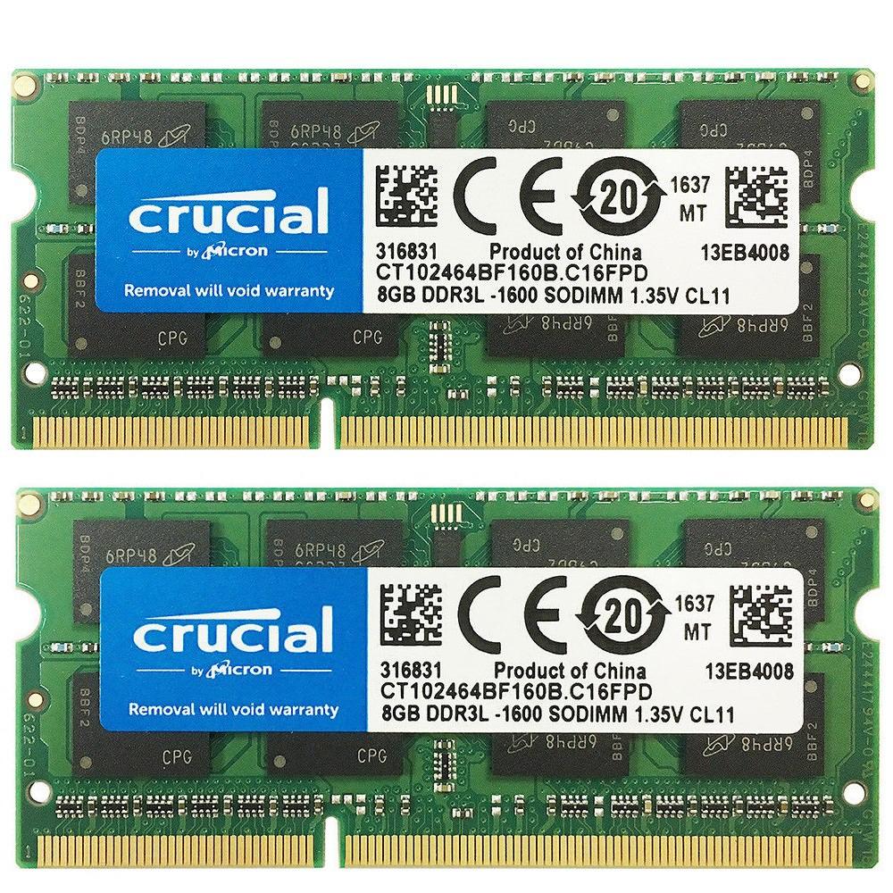 Skhynix Laptop Memory 16GB 2X 8GB PC3-12800S DDR3 1600Mhz CL11 So-Dimm 204Pin