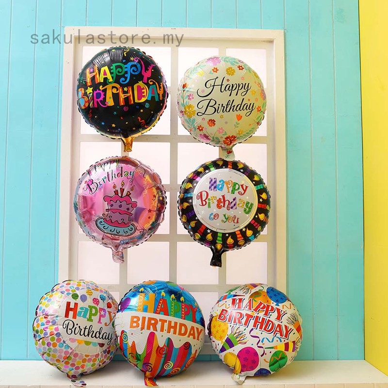 Large Happy Birthday Self Inflating Balloom Banner Buntings Party Decoration