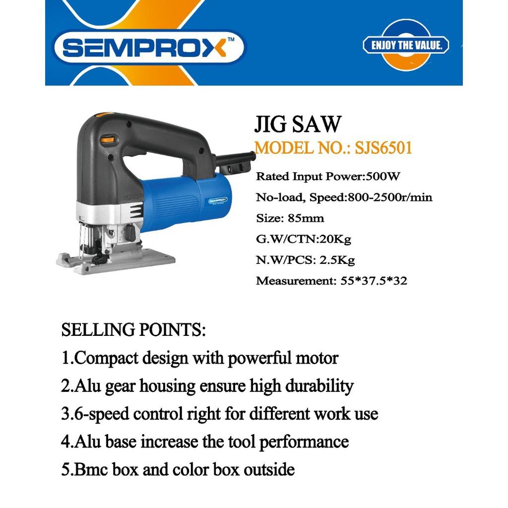 SEMPROX SJS6501 500W 85MM WOOD JIGSAW CUTTER SHEET METAL CUTTING