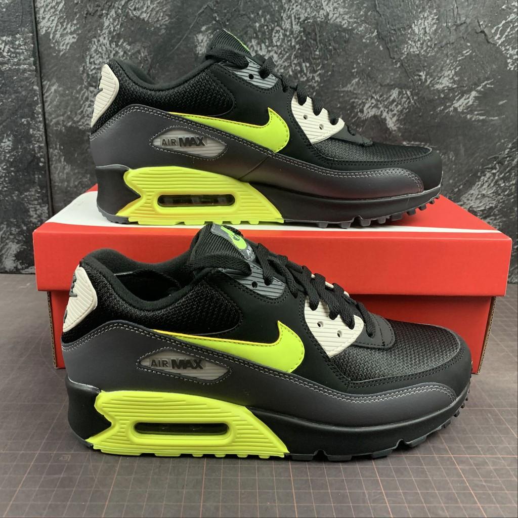 Disturbio Confesión declarar  Nike Air Max 90 Essential Dark Grey Volt Green Black AJ1285 015 | Shopee  Malaysia