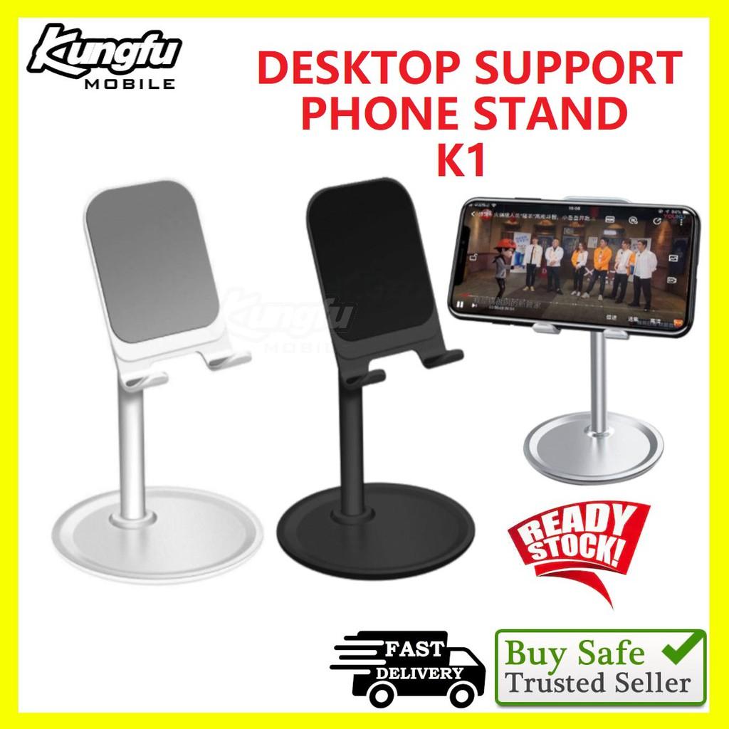 Mobile Phone Adjustable Desktop Phone Stand Aluminum Desktop Portable Universal Stable Holder