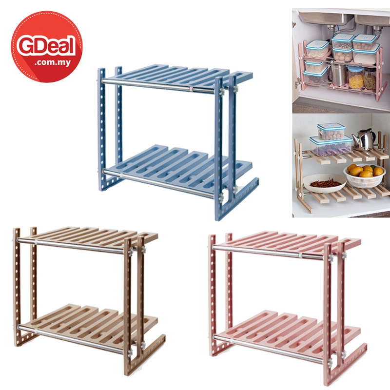 GDeal Kitchen Seasoning Storage Rack Cooking Spices Shelf Organizer Rak Dapur رق داڤور