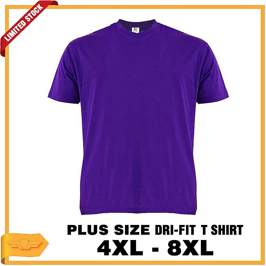 wholesale dealer e789b 40c8a [PLUS SIZE UNISEX] Plain Dri Fit Microfiber Jersey Round Neck T-Shirt Purple
