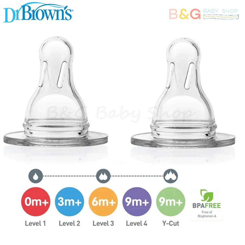 b9b15b123b4d Dr Brown´s Narrow Neck ˝OPTIONS˝ 250ml Bottle Level 1 Silicone Nipple (0m+)