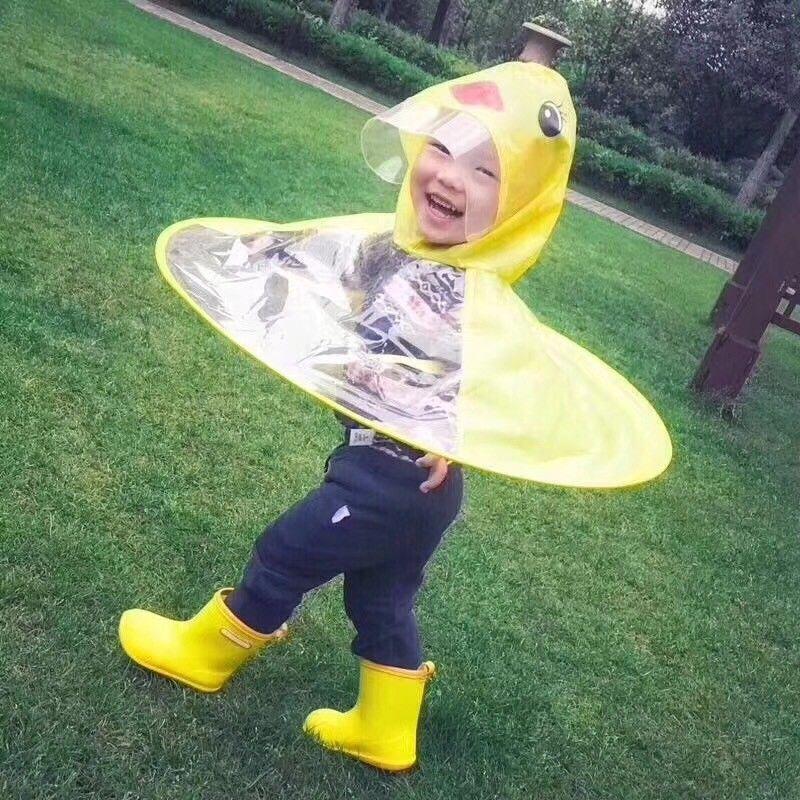 enjoy lowest price better price for best website Boys Girls Raincoat Kids Children Duck Cartoon Rain Gear Umbrella Coat  Christmas