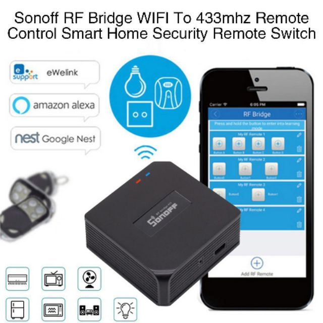Sonoff Wifi 433mhz RF Bridge Smart Controller Switch Box