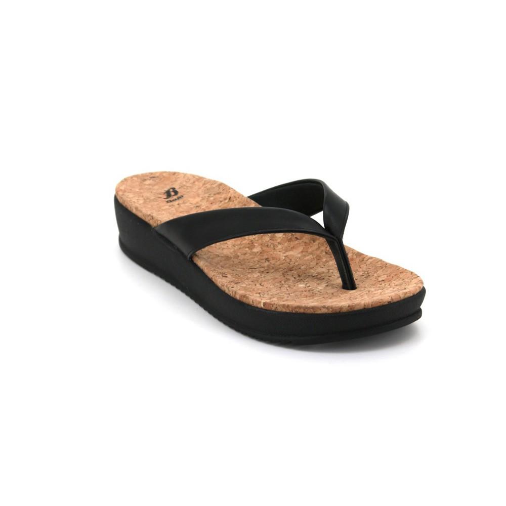 c2d3fa8769889 Bata Women's Flip Flops - Black 5616145