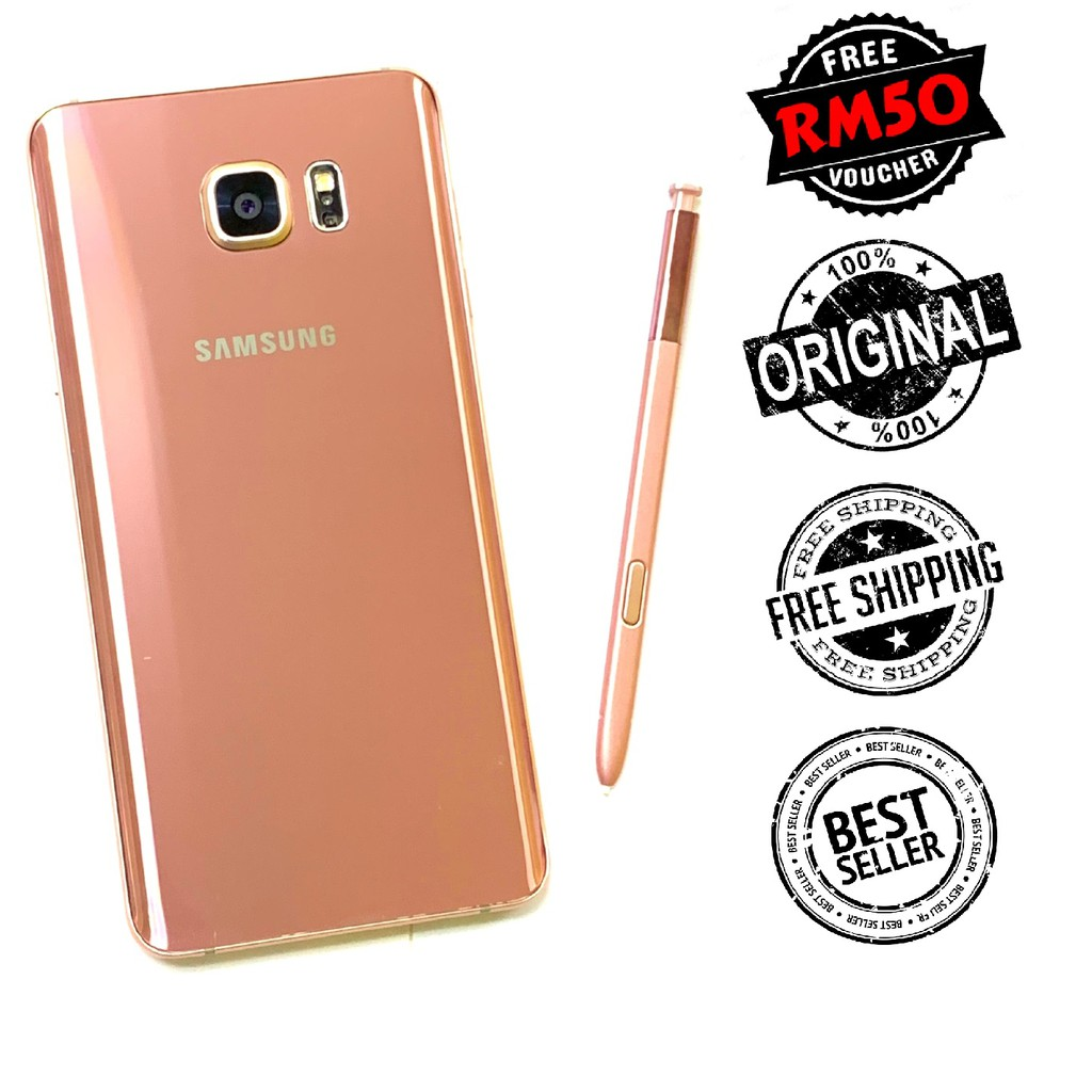 🇲🇾 Original Samsung Note 5 4G LTE N920 Android 7.0 Nougat [32GB   64GB + 4GB RAM] [1 Month Warranty] FREE RM50 Voucher