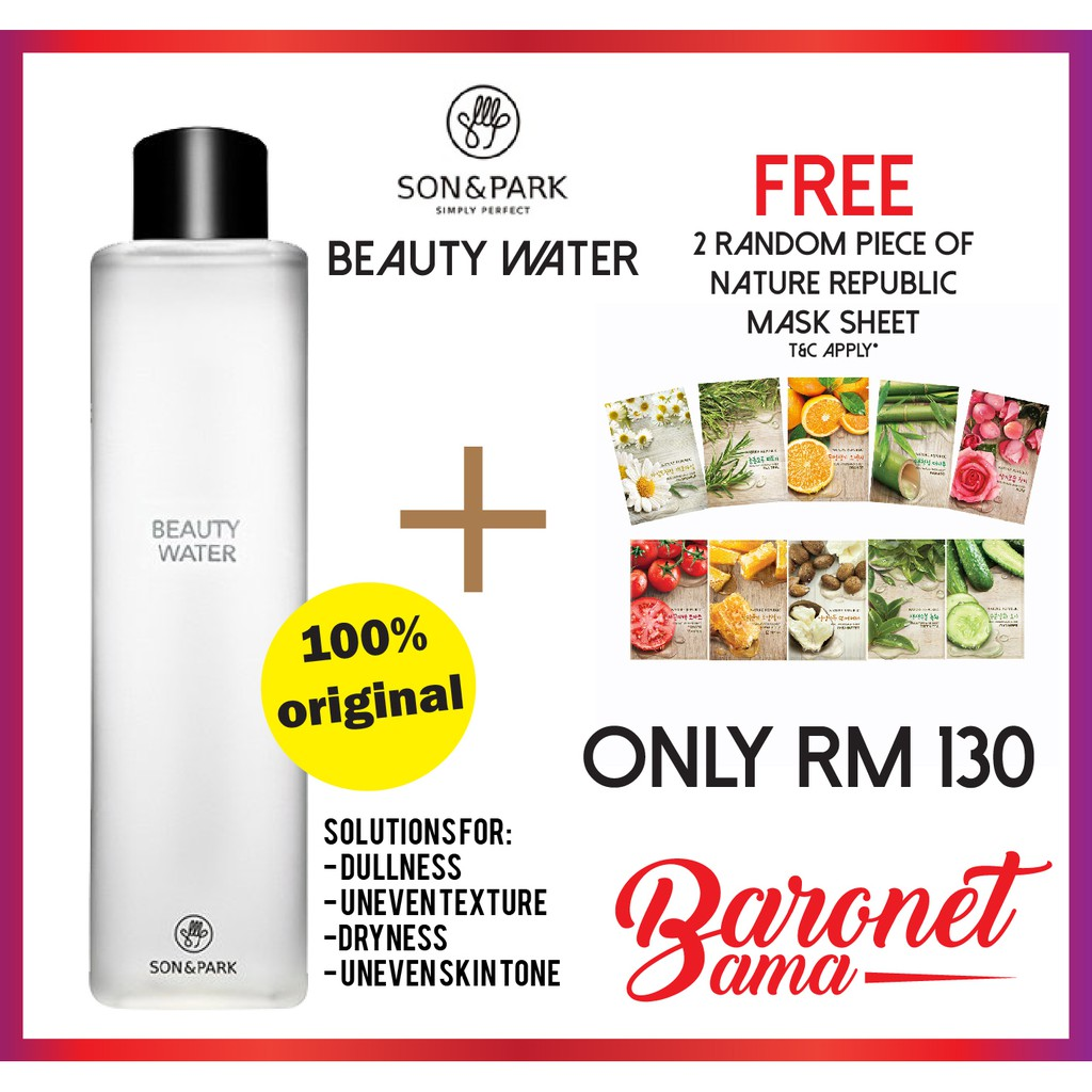 Son Park Beauty Water 500ml Shopee Malaysia 100