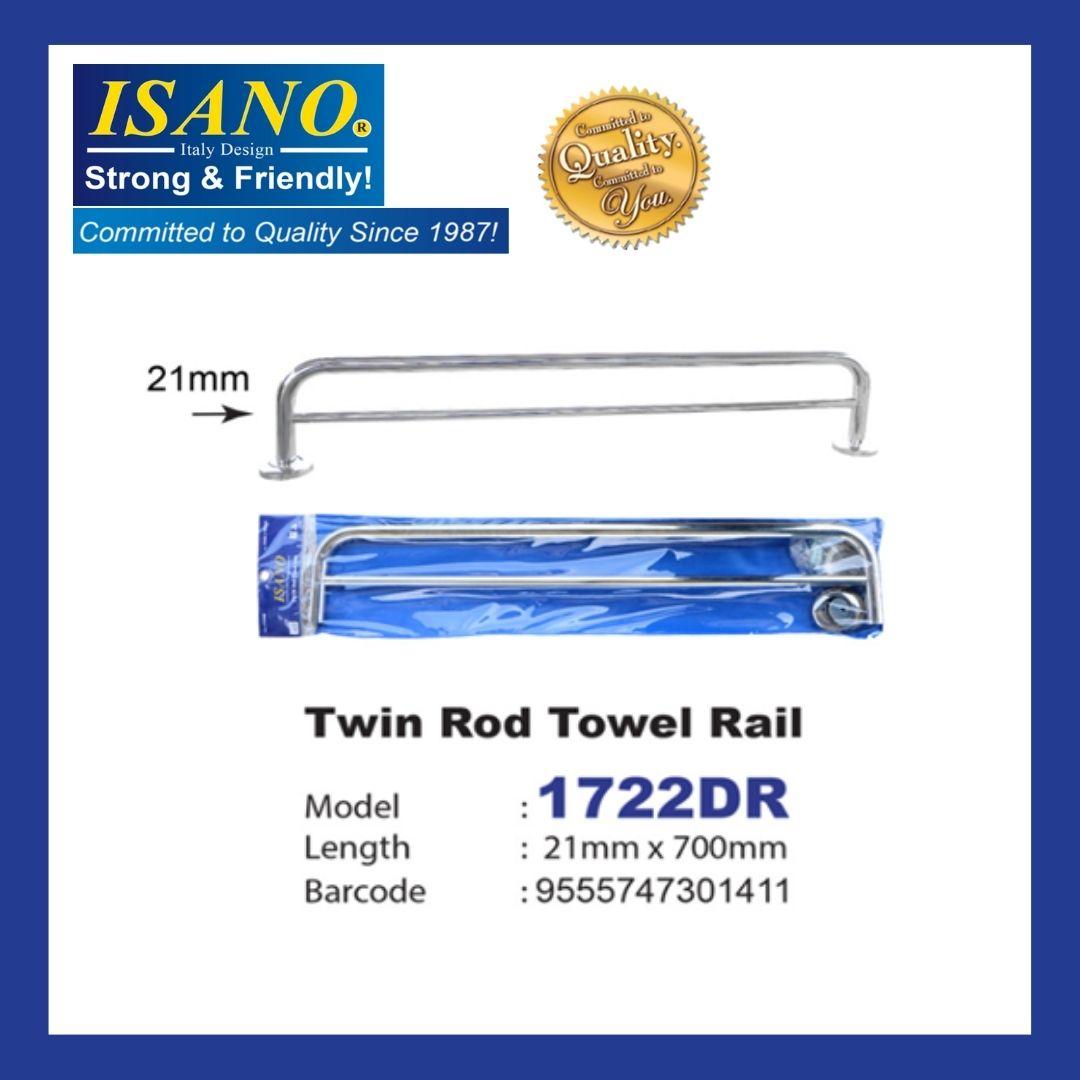 ISANO Single Rod Towel Rail 1722DR ( 21mm x 700mm )
