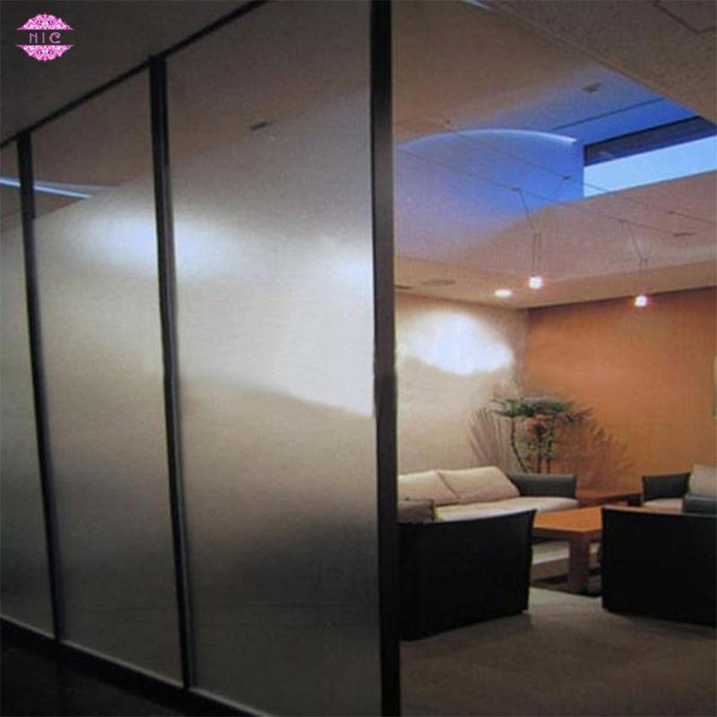 Static Cling Vinyl Privacy Opaque Frosted Glass Window Film for Office Home Bedroom Bathroom Style A 40 by 200 cm