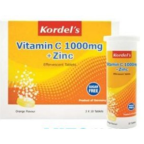 Kordel\'s Vitamin C 1000mg + Zinc (Saver\'s Pack 3 x 10\'s)