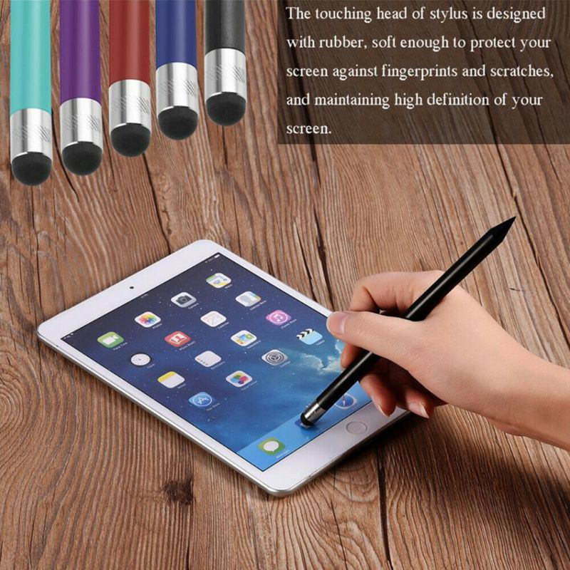 Fine Point Round Thin Tip Capacitive Stylus Pen For Smart Phones Android iPad